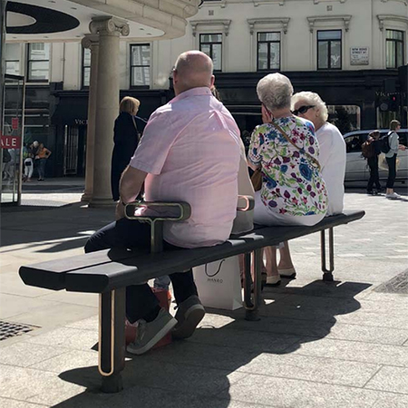 Luxury public seating installed at Bond Street