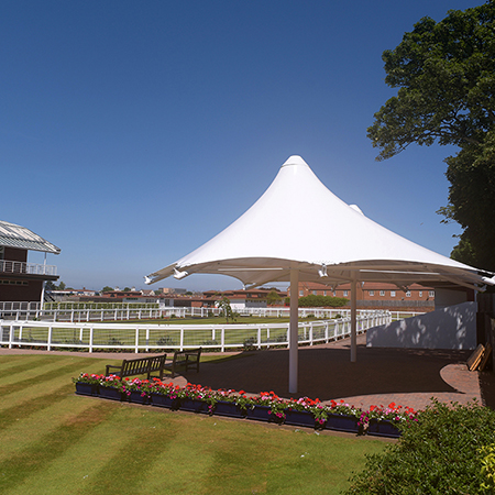 Twin Conic canopy at Redcar Racecourse