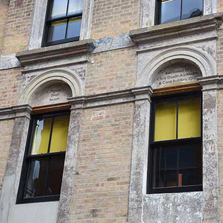 Sash windows for architect's historic offices