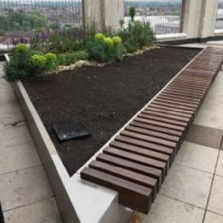 Irrigation of intensive green roof systems from Alumasc