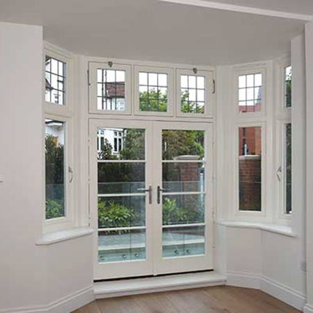 Timber casement windows for No. 1 Ardwick Road