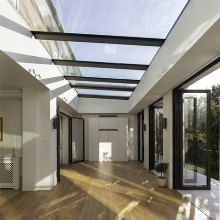 Contemporary orangery and bespoke rooflights transform home