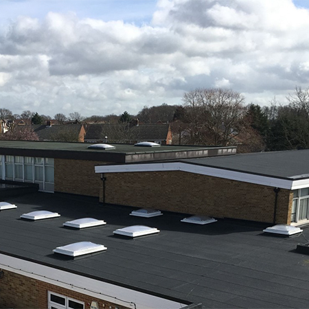Bituminous Membrane System for Alec Hunter Academy