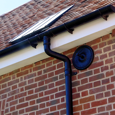 Aluminium rainwater system for Grade II listed building
