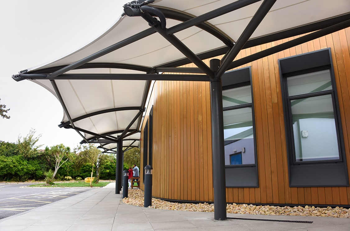 Broxap canopy for Southlands Hospital walkway