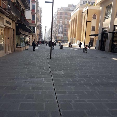 ULMA drainage channels for main avenue in Bari, Italy