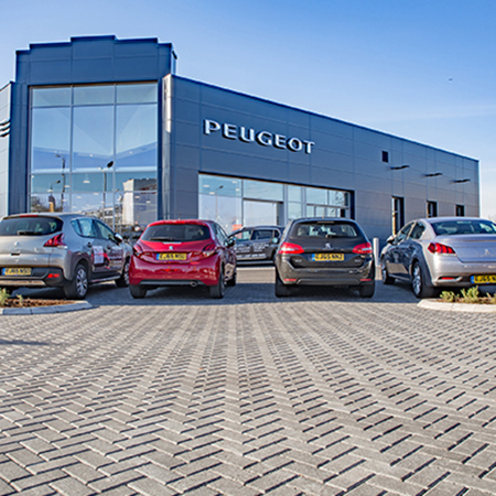 Tobermore Hydropave Pedesta Charcoal - Peugeot & Citroen Dealership, Chingford