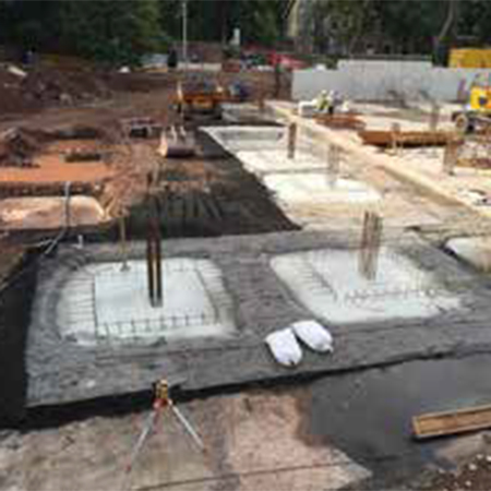Waterproofing systems for underground carpark in Edinburgh