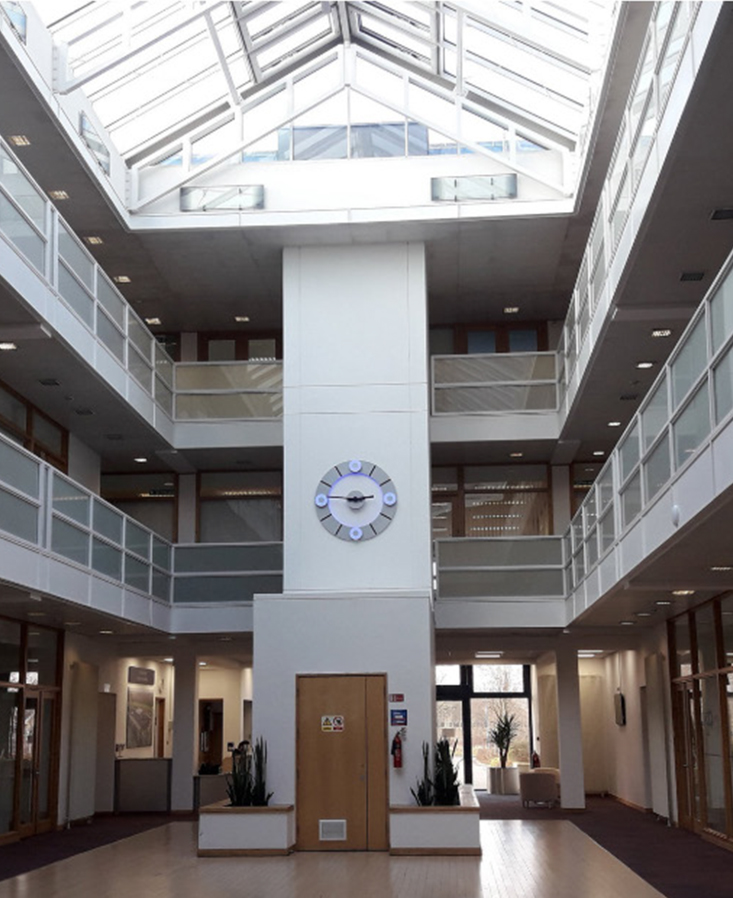 Dyer provide natural smoke ventilation to Shenley Wood shared atrium