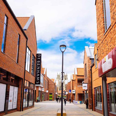 Traditional brickwork design maintains style of historic market town