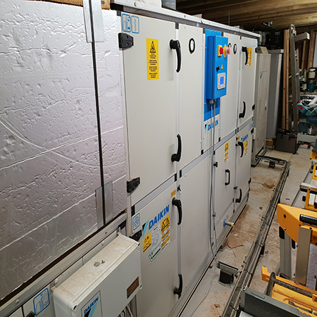 Daikin heat pumps provide efficient and quiet comfort in new spa extension