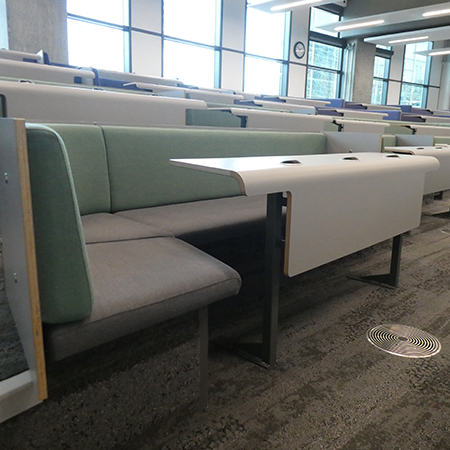 Collaborative bench seating at Newcastle University