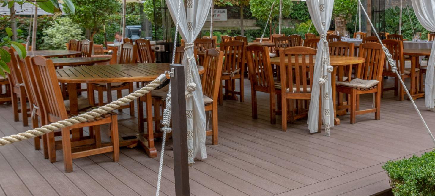 Composite decking adds style to private members club