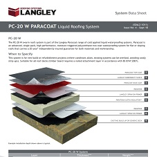 PC-20 W Paracoat Liquid Roofing System Data Sheet