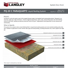 PQ-20 C Paraquartz Liquid Roofing System Data Sheet