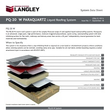PQ-20 W Paraquartz Liquid Roofing System Data Sheet