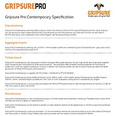 Pro Contemporary Specification