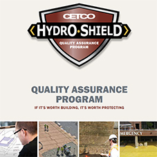 Hydroshield™ Quality Assurance Program