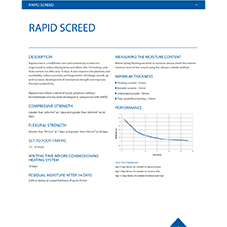 Rapid screed Tech Data Sheet