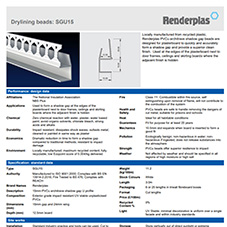 Renderplas PVC shadow gap 'U' profile product data sheet