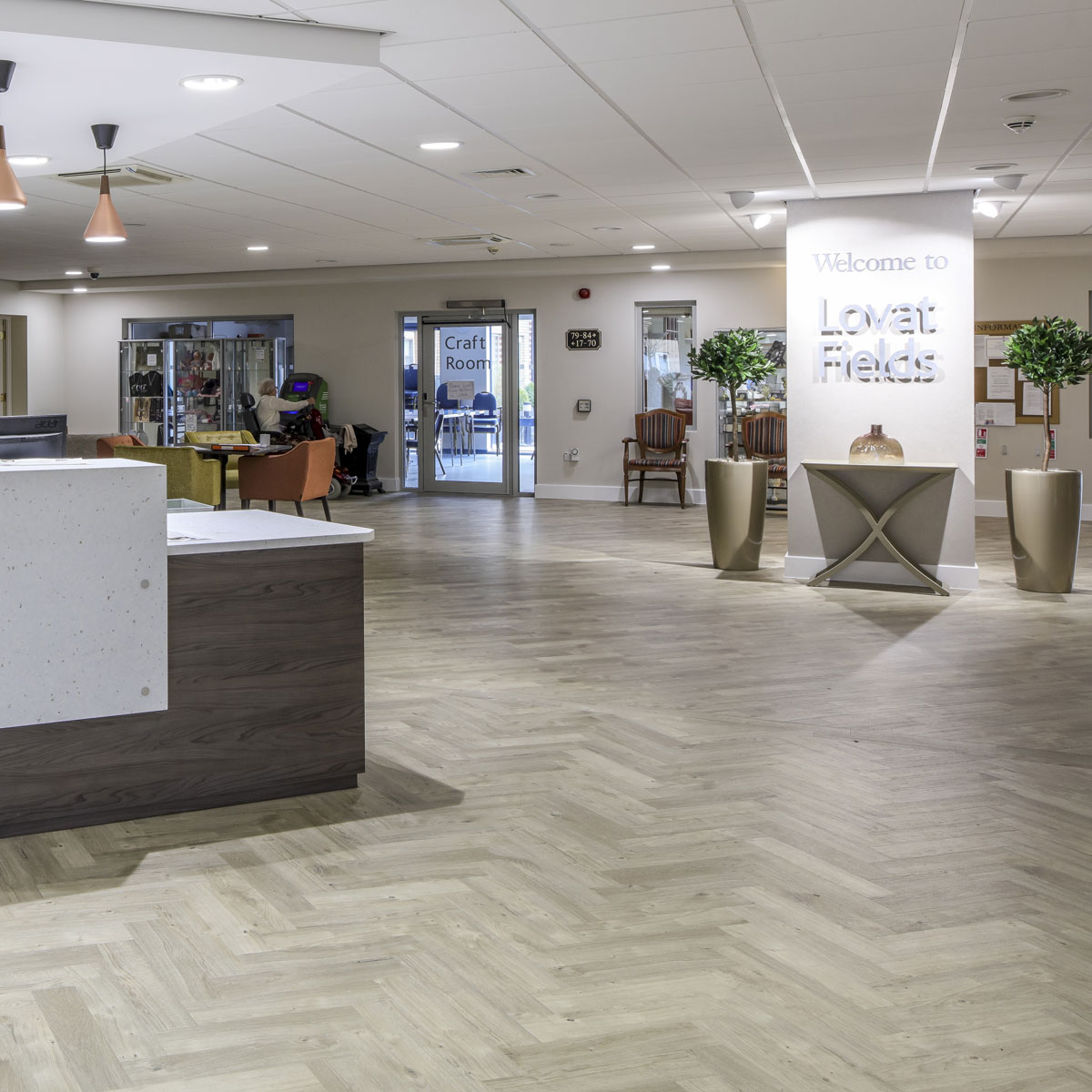 Amtico provide Lovat Fields Retirement Village with luxury vinyl tiles