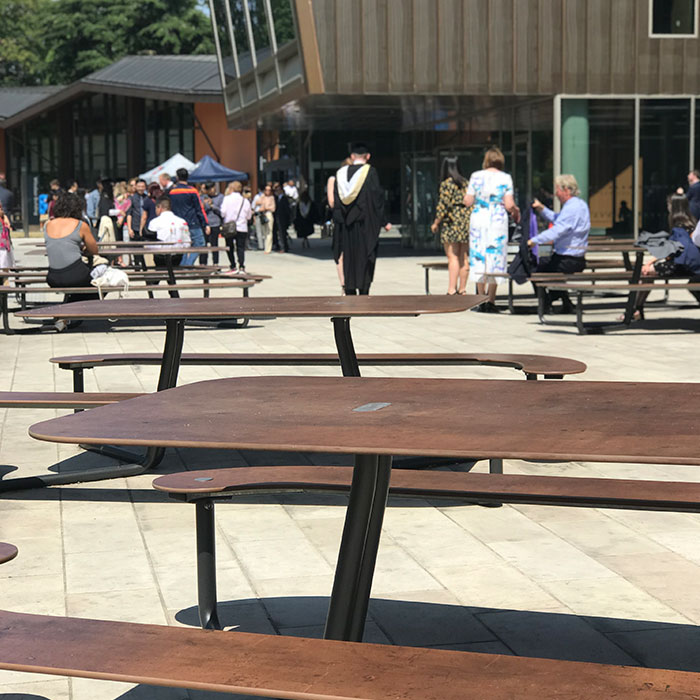 Plateau Picnic Tables for the Royal Holloway University of London