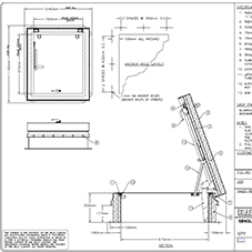 Ladder Access Roof Hatch S-50TB Submittal Drawing
