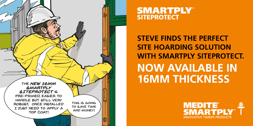 MEDITE SMARTPLY launch new product SMARTPLY SITEPROTECT