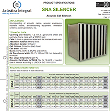 SNA SILENCER - Acoustic Cell Silencer