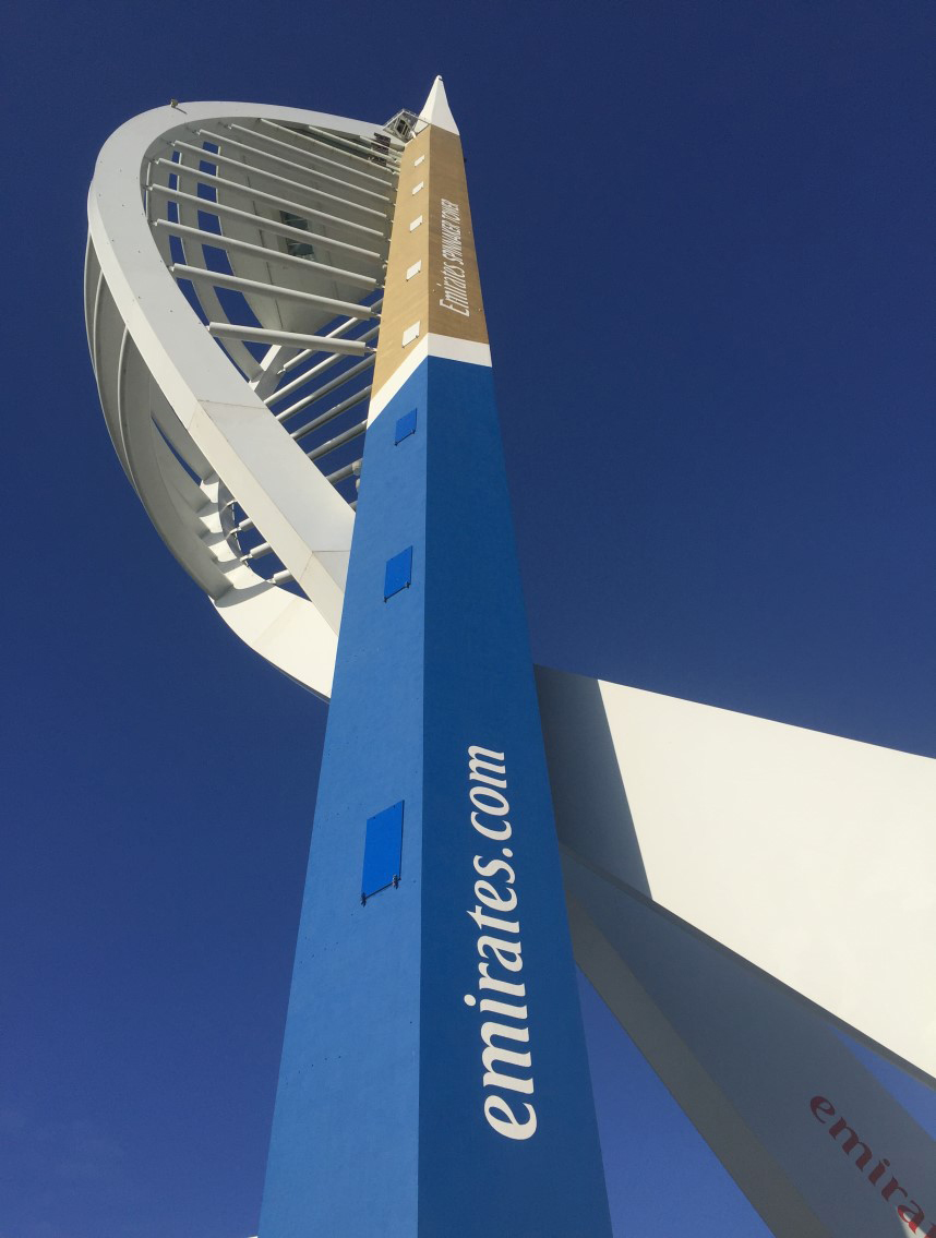 Decorative coating for Emirates Spinnaker tower