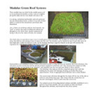 Modular Green Roof Systems Technical Data