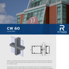 CW60 Thermally improved Curtain Walling for large glass surfaces
