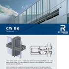 CW86 Unitised / Modular Cassette façades for Curtain Walling