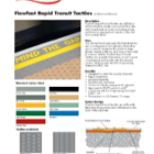 Flowfast Rapid Transit Tactiles: Technical Data