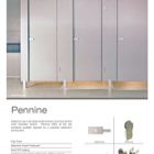 Pennine™ Budget Toilet Cubicle System