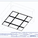 600x600 Mineral Board - 24mm exposed TLX grid - 3D