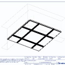 600x600 Mineral Step - 24mm exposed TLX grid - 3D