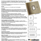 Touch Dimmer Info