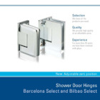 Shower Door Hinges Barcelona Select and Bilbao Select