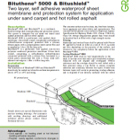 Bituthene 5000 Bitushield Technical Data