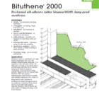 Bituthene 2000 Technical Data