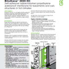 Bituthene 3000 HC Technical Data
