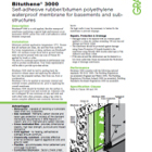 Bituthene 3000 Technical Data