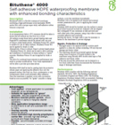Bituthene 4000 Technical Data