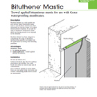 Bituthene Mastic Technical Data