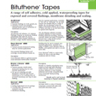 Bituthene Tapes Technical Data