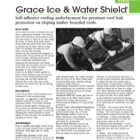 Grace Ice Water Shield Technical Data