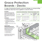 Grace Protection Boards and Decks Technical Data