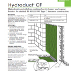 Hydroduct CF Technical Data