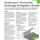 Hydroduct Horizontal Technical Data